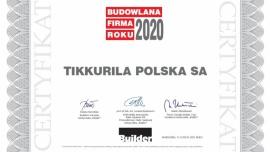 """Tikkurila z tytułem """"Budowlanej Firmy Roku 2020"""""""